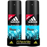 Adidas Ice Dive Deodorant Body Spray For Men Combo, 150ml (Pack Of 2)