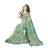Pramukh saris Womens Georgette Flower Pr...