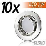 LED Einbaustrahler Schwenkbar DECORO Inkl. 10x 7W LED 230V IP20