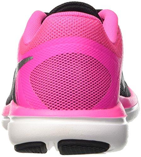 Nike Damen Flex 2016 Run Laufschuhe Schwarz (black/metallic Cool Grey/pink Blast/white)