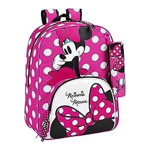 51pePyjyyvL. SS300  - Safta Disney 611513414 - Minnie Mouse Mochila infantil con Lunares, 42 cm, Rosa