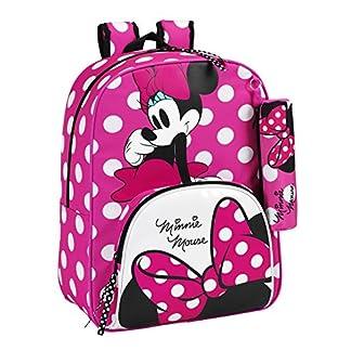 51pePyjyyvL. SS324  - Safta Disney 611513414 - Minnie Mouse Mochila infantil con Lunares, 42 cm, Rosa