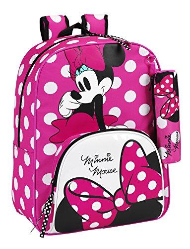 Safta Disney 611513414 - Minnie Mouse Mochila infantil con Lunares, 42 cm, Rosa