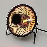 Mini Heater stufetta stufa da scrivania con attacco 220v riscaldamento lampadina alogena Angolo girevole in modo verticale a 180°