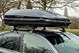 Summit roof bars (pair of) and 420 litre Roof Box to fit Toyota Corolla Mk8 (Years 98-01) (3 door) for cars without running rails