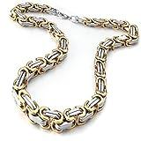 mendino Herren Schmuck Königskette Box Breite 58mm Link Kette Gold 316L Edelstahl Halskette