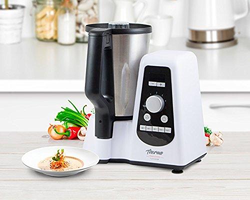 Foto de Robot de cocina multifunción tamaño compacto con capacidad de 1,5L. Ideal para cocinar todo tipo de recetas: tritura, trocea, ralla, bate, amasa, cocina, emulsión y pica hielo