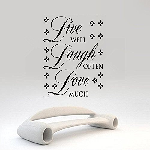 lafzimmer room wall stickers quotes Live Well, Laugh Often, Love Much ()