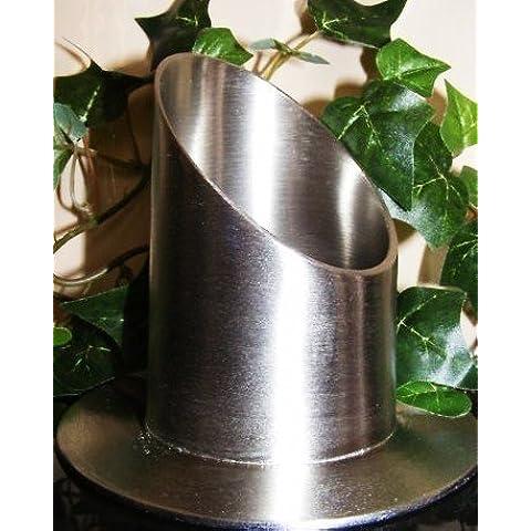 Taper Candle Holder soporte de vela para bautismo Comunión velas 40mm de diámetro blanco 20