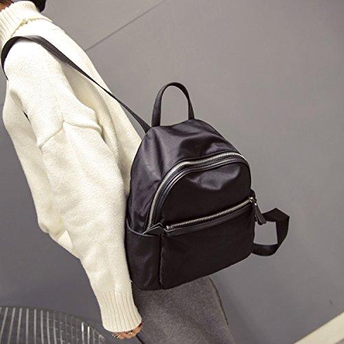 Borsa A Tracolla Selvaggio BUKUANG Oxford Moda Sacchetto Di Nylon Donne Uomini Borsa Da Viaggio Piccolo Zaino Mummia,Black Black