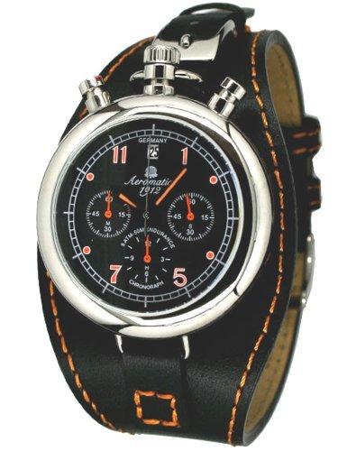 Aeromatic 1912 A1341 Aeromatic A1341 - Reloj , correa de cuero color negro