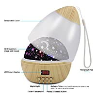 Star Projector Night Light for Kids, Nursery Baby Night Light Projector with 5-995 Minutes Timer Auto-Shut Off, Colorful Star Rotating Lamp for Baby Kids from CDUTA