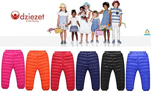 Odziezet Pantalones Esquí Niño Niñas Plumas Plumon Caliente Grueso 2-7 Años 3