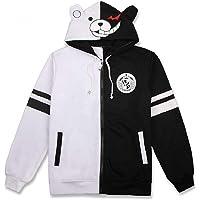 FORLADY Felpa Anime Cappotto Orso Bianco e Nero con Cerniera Lampo Costume Cosplay Monokuma per Uomo e Donna da…