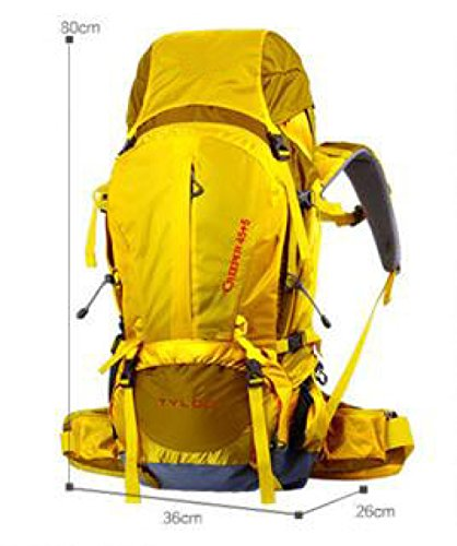 Alpinismo Borsa Professionale Portabile Di Grandi Dimensioni Capacità All'aperto Zaino,Yellow-OneSize Yellow