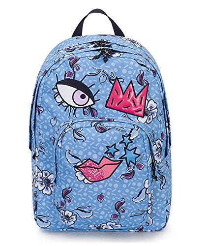 Zaino dial face invicta, azzurro, 38 lt, doppio scomparto, tasca porta laptop 15'', scuola & tempo libero