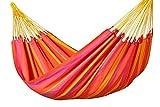 Wetterfeste Single-Hängematte 'SONRISA - mandarine' von LA SIESTA