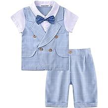 ZOEREA Completo Battesimo bambino ragazzo vestiti pantaloncini primo  compleanno boy vestito ragazzo vestito bambino ragazzo partito a210d931285