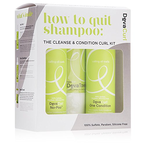 DevaCurl How to Quit Shampoo: Cleanse & Condition Curl Kit Mujeres Champú...