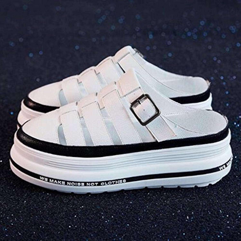 le cci sandales, pantoufles chaussures tout tout tout aller emballer toe moitié pantoufle polyuréthane épais seul mode femme été sandales...b07dgv5bg6 parent | Un Prix Raisonnable  177ab1