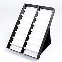 PU Cuir Lunettes Présentation Étui, Organisateur Tri Boîte, de Soleil Rangement Rack Support Récipient, Bijoux Montres…