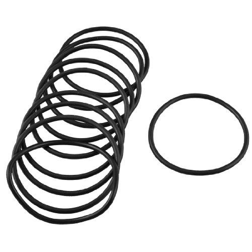 Preisvergleich Produktbild 10 PCS 60 mm Durchmesser 3 mm dicken Gummi versiegelt Oil Seal Dichtung O Ringe schwarz