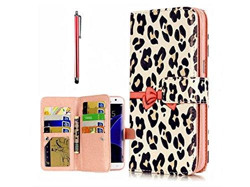 KSHOP Case Cover per iPhone 7 Caso PU Pelle Silicone Rosa Arco Stampa Stile Del (Stampa Trapuntato Borsa)