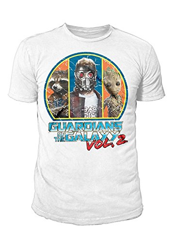 Guardians of the Galaxy Vol. 2 - Premium Herren T-Shirt - Poster Crew (Weiss) (S-XL) ()