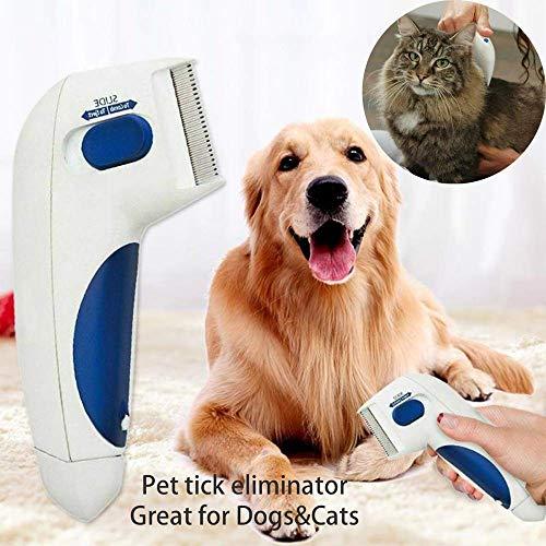 BASMPP Flohkamm Hundekämme Elektrische Hundebürste Kopfläuse Reinigung Kamm Entfernung Haustierreinigung Capture Tool Hunde Katzen Katzenbürste Selbstreinigend