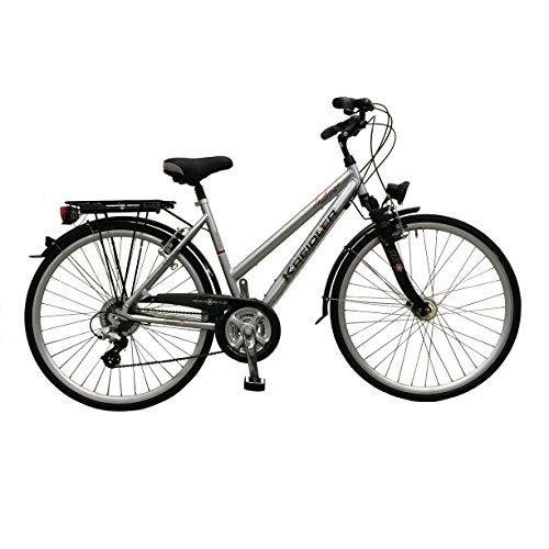 Preisvergleich Produktbild Fahrrad Damenrad Cityrad Stadtrad Kreidler Le Havre silber Trekkingrad Rad Rahmenhöhe 45 cm