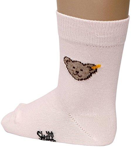 Steiff Baby Mädchen Socken mit Bär 24059 (62/68, Rosa) (Socke Mit Teddy-bär)