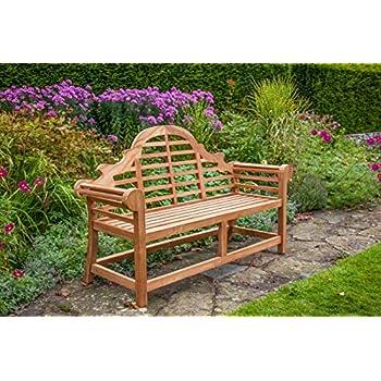 Superb Mr Teak The Sissinghurst Lutyens Deluxe Teak Garden Bench Fully Assembled Complete Home Design Collection Barbaintelli Responsecom