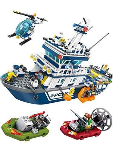 Zzh Bausteine, Seenotrettungskinder, Montage von Spielzeugschiff, Knabenkampf, Einfügen von kleinen Partikeln, Hochgeschwindigkeitsjagd (Vans-junioren)