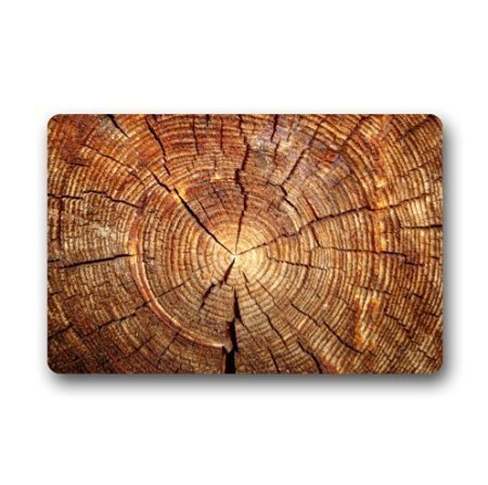 lijied Fashions Doormat Tree Ring Wood Pattern Indoor/Outdoor/Front Welcome Door Mat(23.6'x15.7' L x W) Welcome Mat Small Rugs