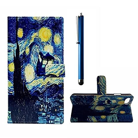 MUTOUREN Sony Xperia X Performance Wallet PU Leather Case slim flip protection Magnetic skin cover +stylus accessories pen-flood