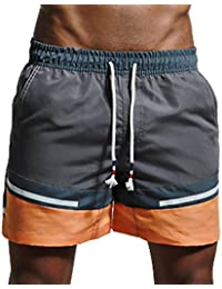 Y-BOA Short De Bain Plage Casual Pantalon Court Bermuda Sport Slim Homme
