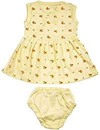 kandyfloss Baby Girls' A-Line Frock and Bottom Set