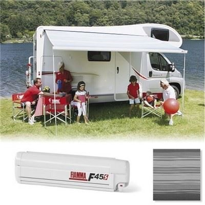 Fiamma F45 S 260cm 2.6m Motorhome Campervan Caravan Awning Canopy Deluxe Grey/Polar White 06280H01T