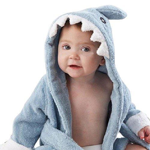 Bebé albornoz de tiburón