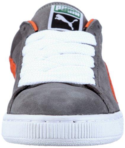 Puma - Suede Classic Eco, Sneaker Uomo Grigio ( Grau (steel grey-vermillion orange 28))