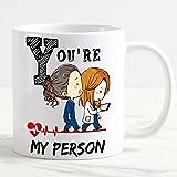 csm Informatica Tazza Mug personalizzata Grey'Anatomy You are My Person cuore