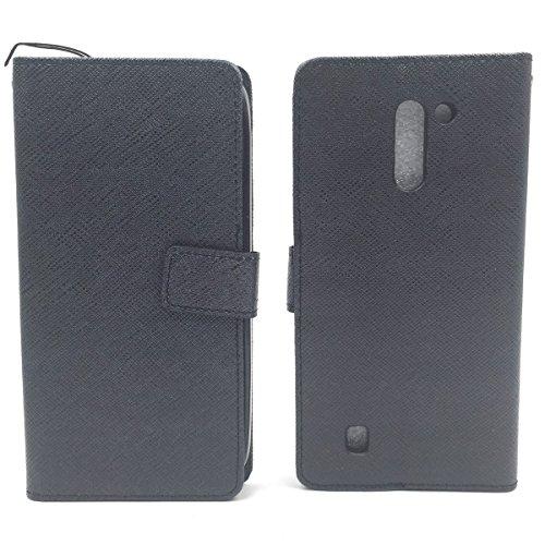 Roi Boutique Housse Wallet Cadre Bumper Case Cover imitation cuir Format Livre ONXY-SCHWARZ