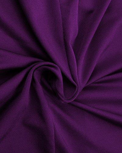 BIUBIU Damen V-Ausschnitt Bandage Cocktailparty Bodycon Bleistift Kleid Minikleid Lila