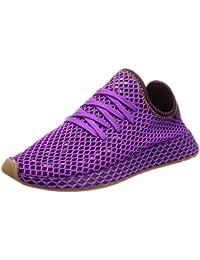 best sneakers a1dcf ef3e8 adidas Originals Deerupt Runner, Shock Purple-Red Night-Shock Yellow, 13,