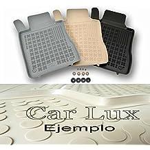 Car Lux NAR03908 - Alfombras Alfombrillas de goma a medida tipo cubeta 3D beige