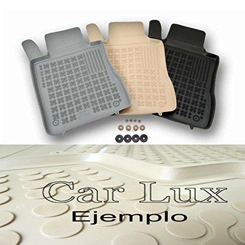 Car Lux - Alfombras Alfombrillas de goma para VW Golf 4 IV desde 1997- tipo cubeta 3D beige