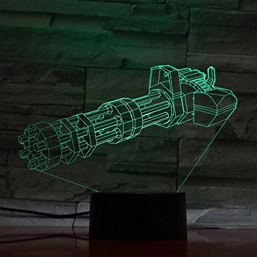 Cannon 3d changeant de couleur lampe de nuit pour enfants LED 7 couleurs lampe de table de bureau créatif bébé Veilleuse DC 5V USB veilleuse