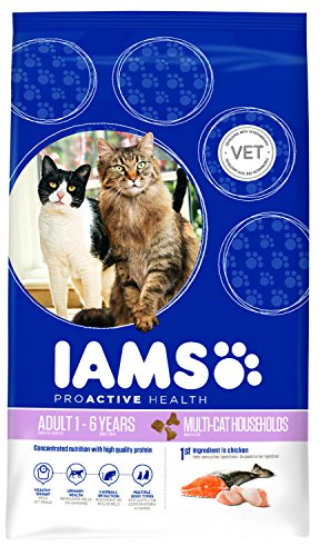 Iams Cat Food ProActive Health Multi-Cat with Norwegian Salmon and Chicken, 15 kg 1