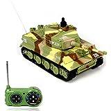 Malloom® Nuevo mini 1:72 49MHz R/C control remoto por radio tanque de tigre 20M niños de juguete Regalo (amarillo)