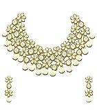 Zaveri Pearls Non-Precious Metal White C...